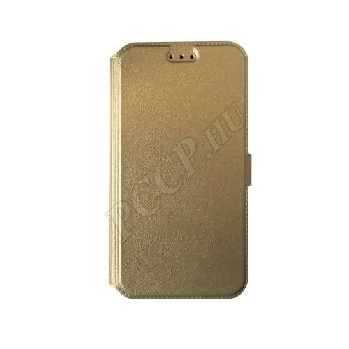 Huawei P8 Lite arany  flip oldalra nyíló tok