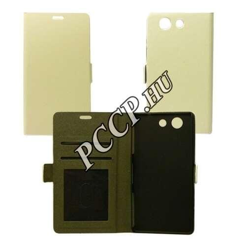 Huawei P9 fehér flip oldalra nyíló tok