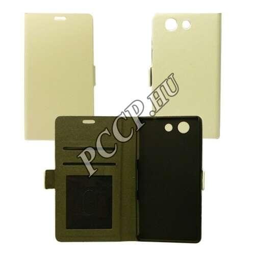 Huawei Y6 II fehér flip oldalra nyíló tok