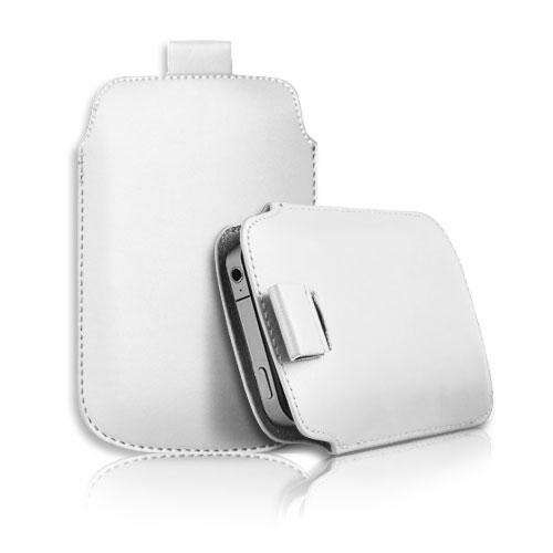 Apple Iphone 4S fehér slim bőr tok