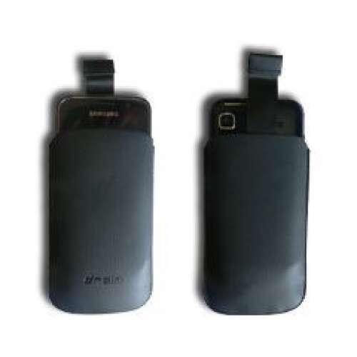 Iphone 5 fekete slim bőr tok