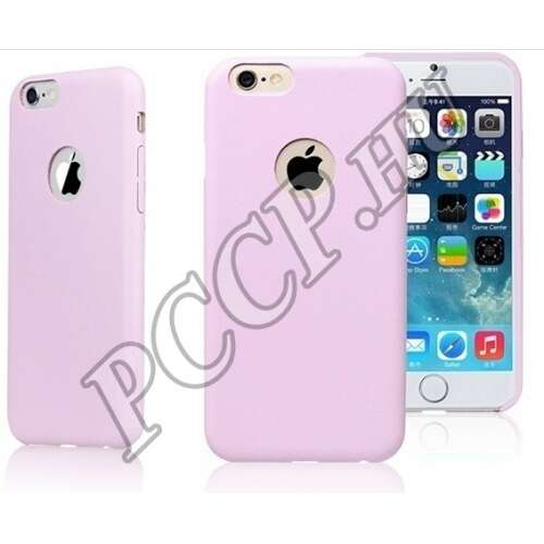 Apple Iphone 6 pink bőrhatású műanyag hátlap