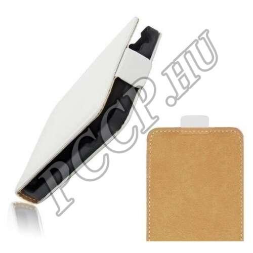 Apple Iphone 6 fehér flip bőr tok