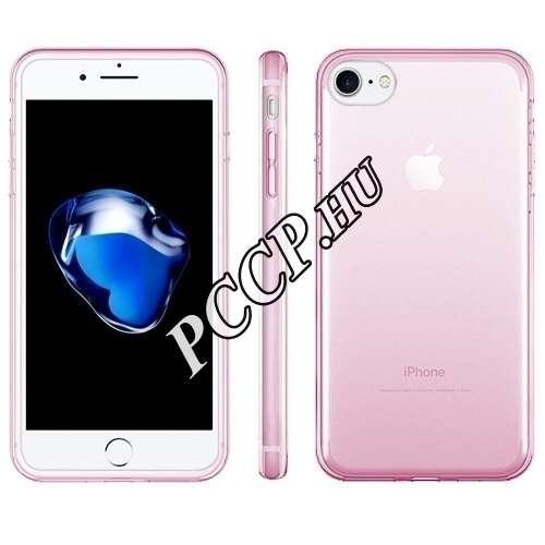 Apple iPhone 7 pink ultravékony szilikon hátlap