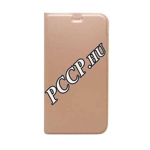 Apple Iphone X rosegold oldalra nyíló flip tok