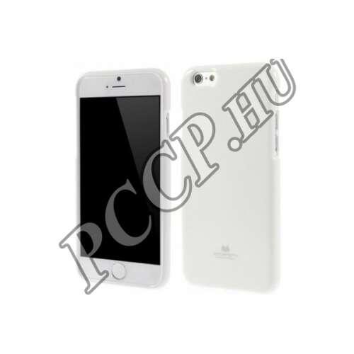 Apple Iphone 6 fehér rugalmas szilikon hátlap