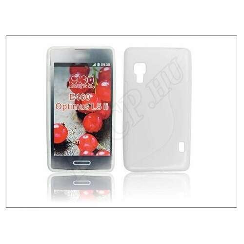 LG Optimus L5 II fehér szilikon hátlap