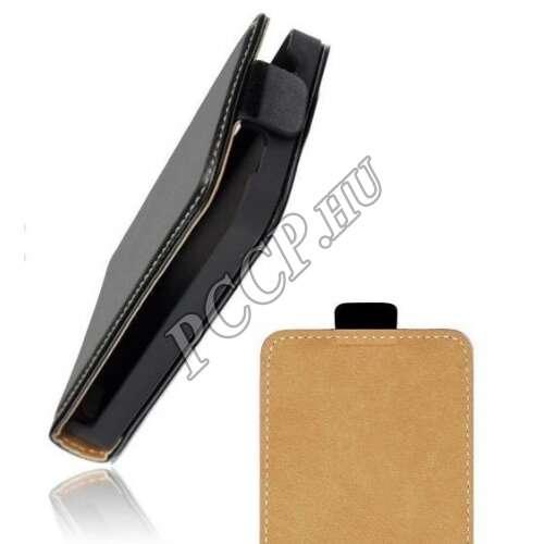 LG G5 fekete flip bőr tok