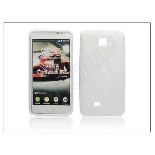 LG Optimus F5 fehér szilikon hátlap