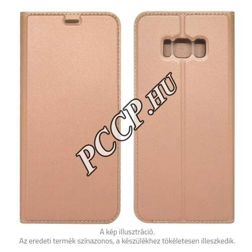 LG Q6 rosegold flip oldalra nyíló tok