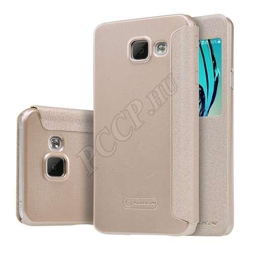 Samsung Galaxy A3 (2016) arany oldalra nyíló tok