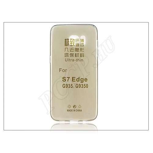 Samsung Galaxy S7 Edge fekete szilikon hátlap