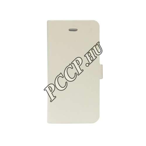 Samsung Galaxy A310 fehér flip oldalra nyíló tok