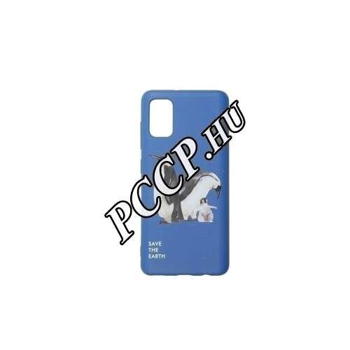 Samsung Galaxy A41 pingvin mintás kék színű BIO környezetbarát hátlap