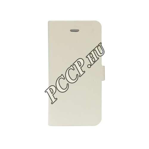 Samsung Galaxy A510 fehér flip oldalra nyíló tok