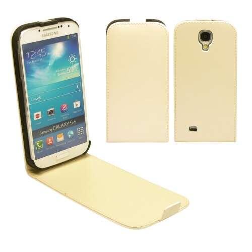 Samsung Galaxy Ace 4 fehér flip bőr tok