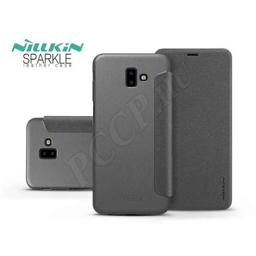 Samsung Galaxy J6 Plus fekete oldalra nyíló flip tok