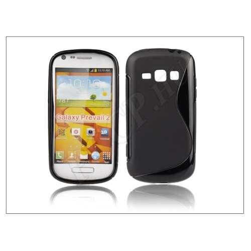 Samsung Galaxy Prevail 2 fekete szilikon hátlap