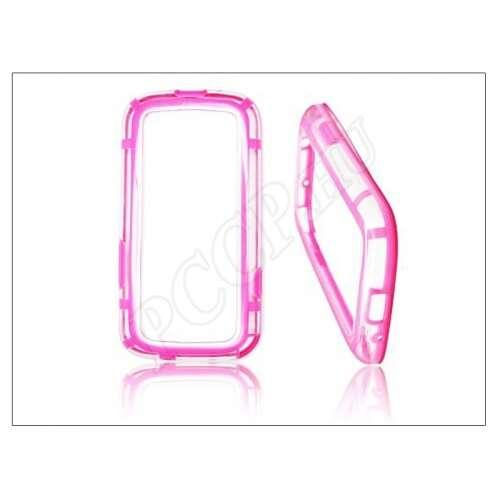Samsung Galaxy S 3 pink/átlátszó védőkeret
