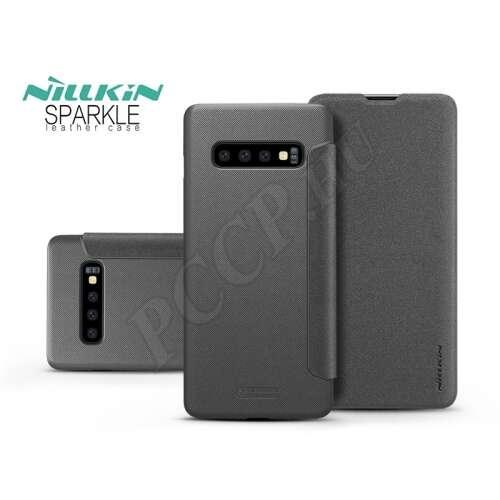 Samsung Galaxy S10 fekete oldalra nyíló flip tok