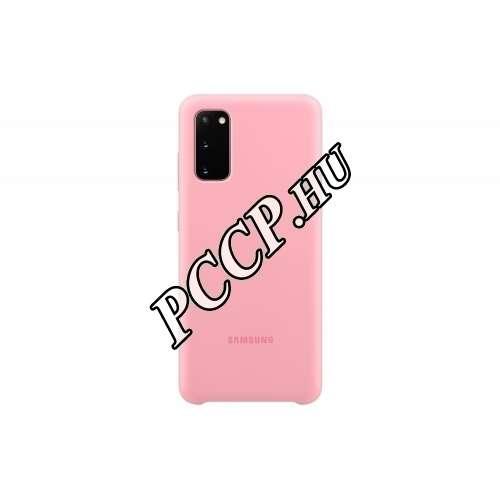 Samsung Galaxy S20 pink szilikon hátlap
