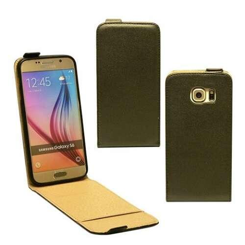 Samsung Galaxy S6 fekete flip bőr tok