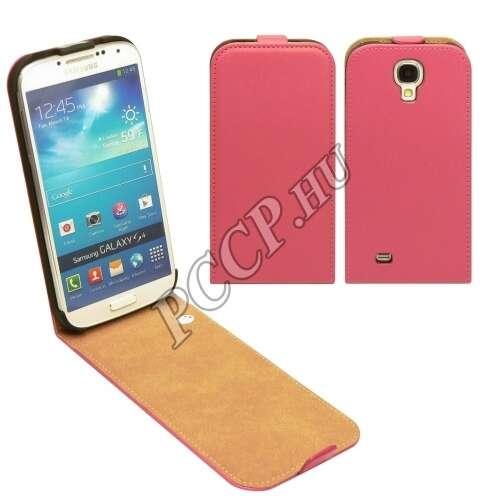 Samsung Galaxy S6 pink flip bőr tok