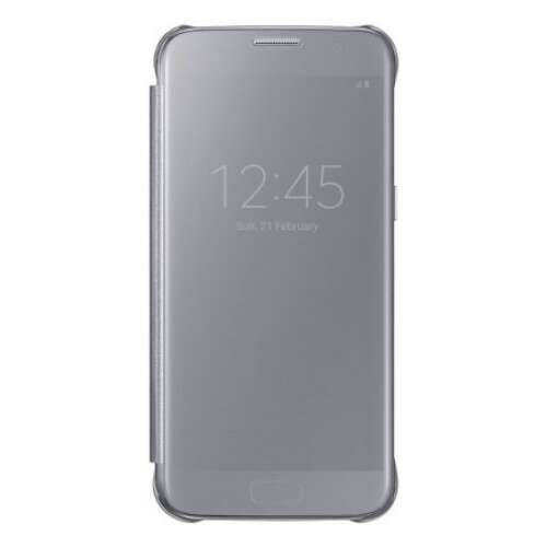 Samsung Galaxy S7 ezüst Clear View cover tok
