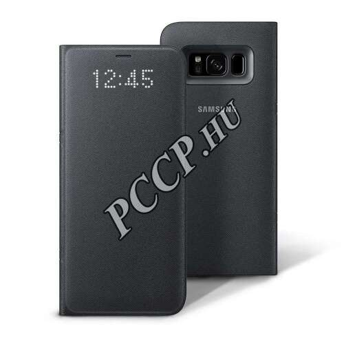 Samsung Galaxy S8 fekete Led View cover tok
