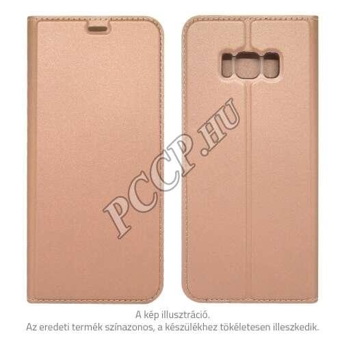 Samsung J3 (2016) rosegold flip oldalra nyiló tok