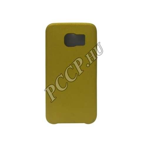 Samsung Galaxy S6 Edge arany bőrhatású műanyag hátlap