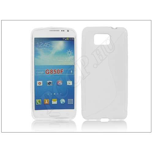 Samsung Galaxy Alpha fehér szilikon hátlap