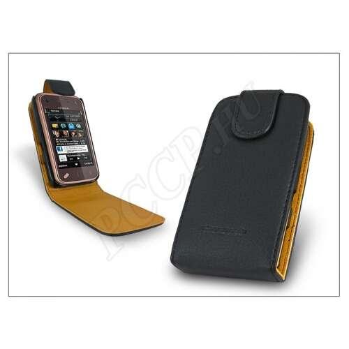 Nokia N97 Mini fekete bőr flip tok