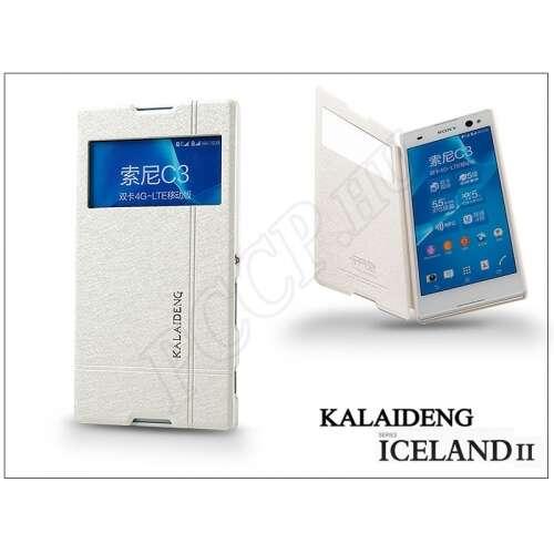 Sony Xperia C3 (D2533) fehér flip tok