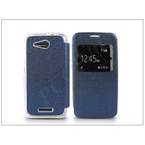 Sony Xperia E4G (E2003) kék oldalra nyíló flip tok