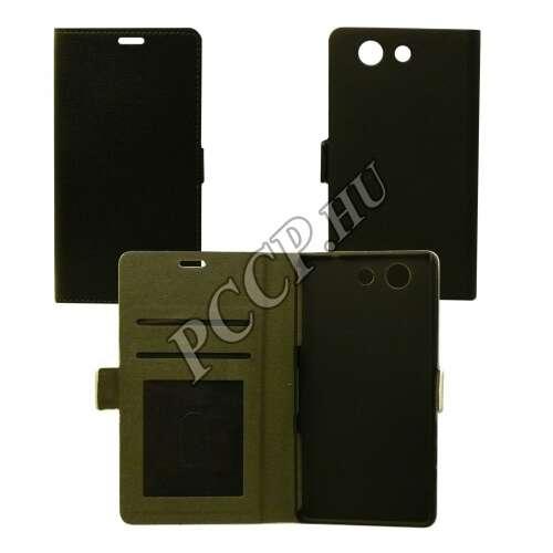 Sony Xperia Z5 Compact fekete flip oldalra nyíló tok