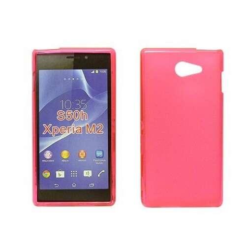 Sony Xperia Z5 pink vékony szilikon hátlap