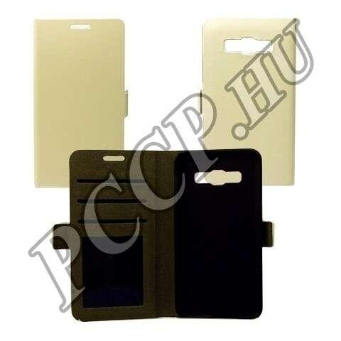 Samsung Galaxy S6 Edge fehér flip oldalra nyíló tok