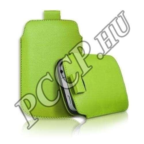 Apple Iphone 4S zöld slim bőr tok