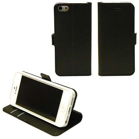 Iphone 5 fekete book cover tok