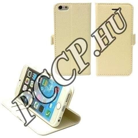 Apple Iphone 6 fehér flip oldalra nyíló tok