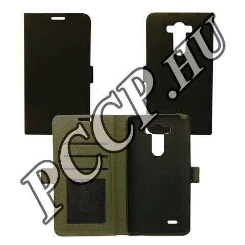 LG C50 Leon fekete flip oldalra nyíló tok
