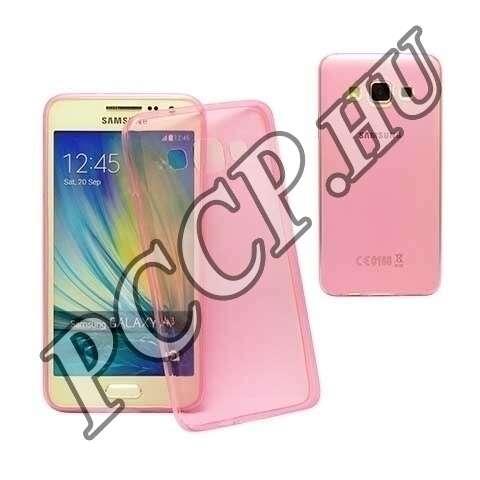 Samsung Galaxy A3 pink ultravékony szilikon hátlap