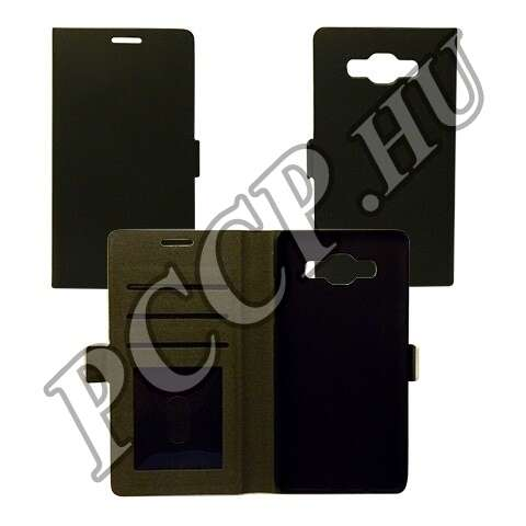 Samsung Galaxy S6 Edge+ fekete flip tok