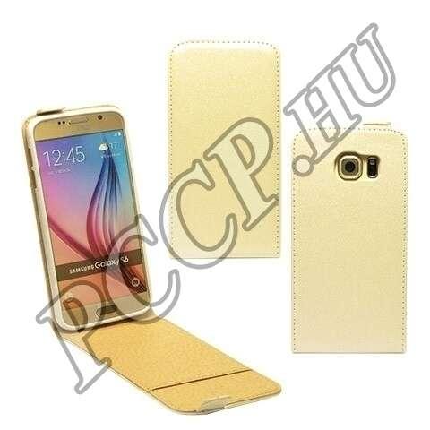 Samsung Galaxy S6 fehér flip bőr tok