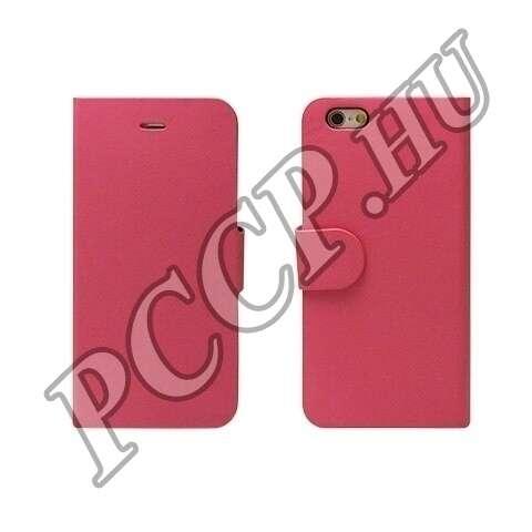 Samsung Galaxy S6 pink flip oldalra nyíló tok