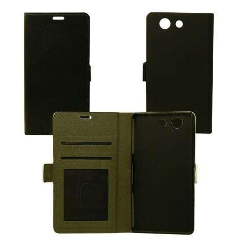 Sony Xperia M4 Aqua fekete flip oldalra nyíló tok