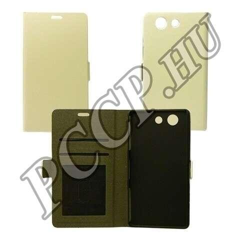 Sony Xperia Z5 fehér flip oldalra nyíló tok