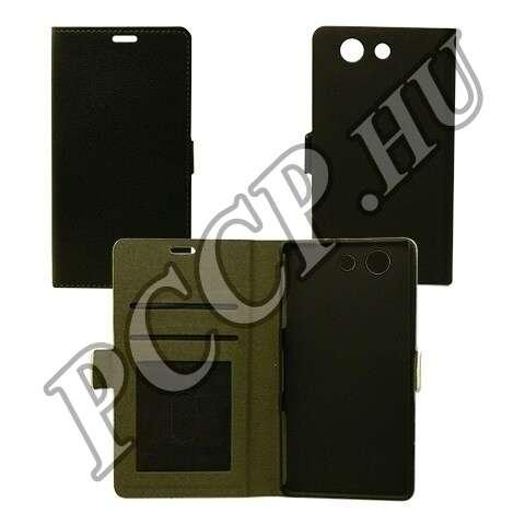 Sony Xperia Z5 fekete flip oldalra nyíló tok